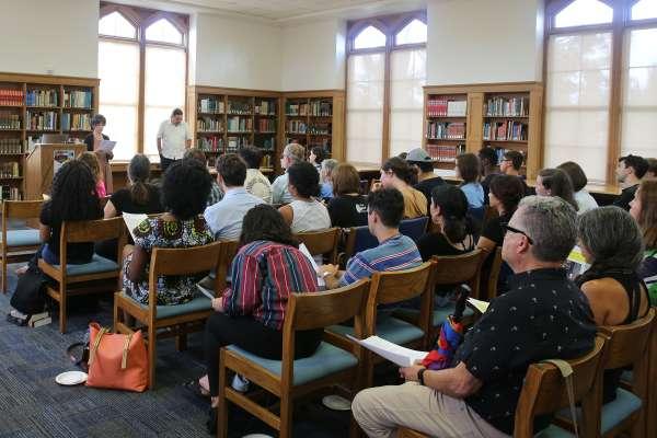 Paul Ortiz gives presentation